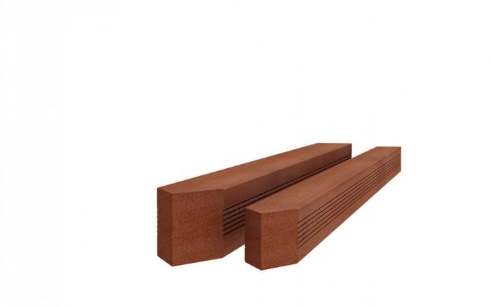 Hardhouten paal met reliëf gepunt 6,5x6,5x180cm (Art. 14208).jpg