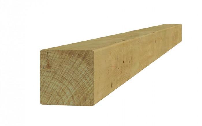 Vierkante vuren paal 12 x 12 x 400 cm (Art. 07126).jpg